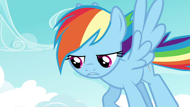 """File:Rainbow """"not going to get me into the Wonderbolts"""" S4E21.png"""