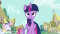 Twilight Sparkle walks through Ponyville S7E14.png