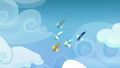 Wonderbolts diving through the air S7E7.png