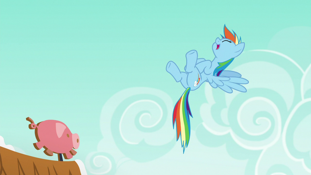 File:Rainbow Dash laughing at Applejack S6E15.png