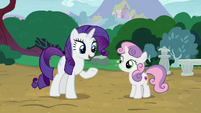 "Rarity ""before I have to head back to Canterlot"" S7E6"