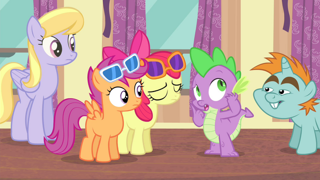 "File:Spike ""Rarity fell way behind"" S4E19.png"