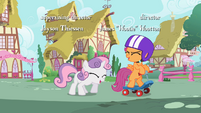 Sweetie Belle and Scootaloo laughing S2E06