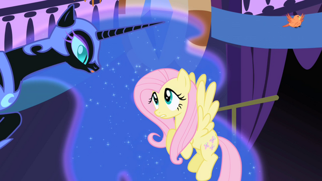 File:Fluttershy and Nightmare Moon S01E01.png