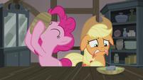 Pinkie Pie slurping her soup S5E20