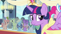 Princess Twilight admiring cheers S3E13