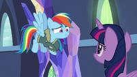 "Rainbow Dash ""please say here"" S6E24"