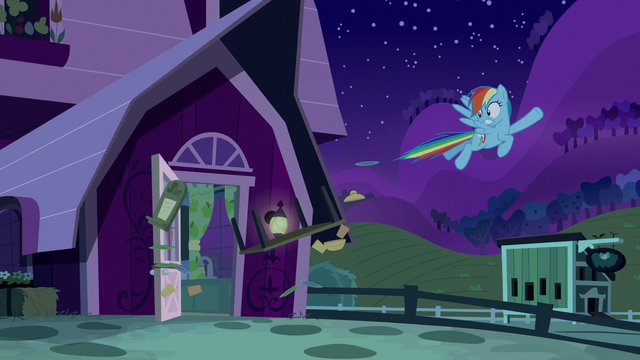 File:Rainbow breaks through the boarded-up door S6E15.png