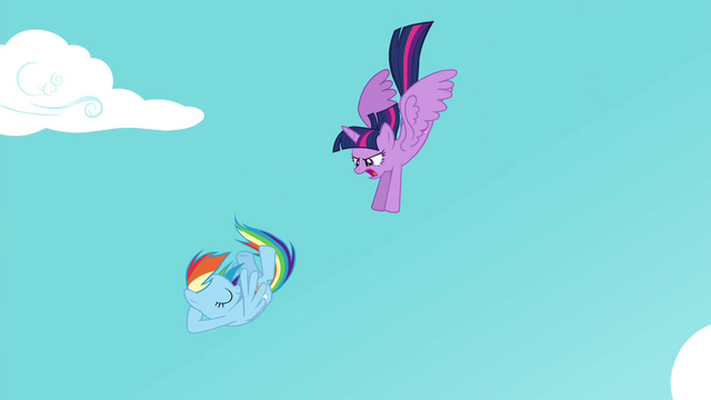 File:Twilight flying down to Rainbow S4E21.png