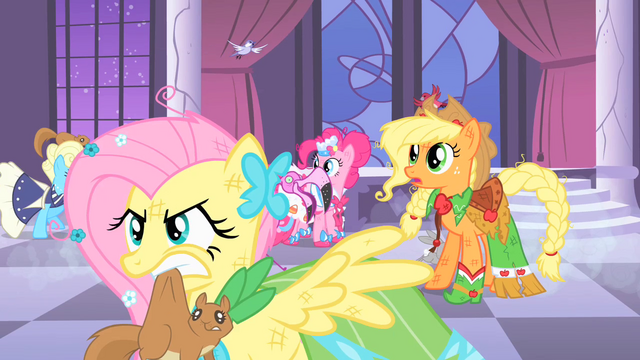 File:Fluttershy holding a squirrel in her mouth S1E26.png