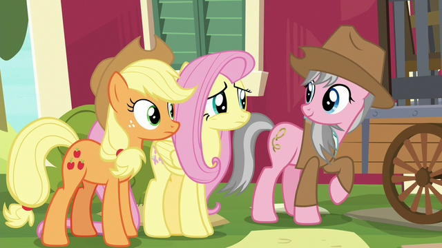 File:Fluttershy uncomfortable with Wrangler's offer S7E5.png