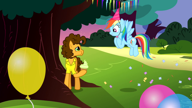 File:Rainbow Dash talking to Cheese Sandwich S4E12.png