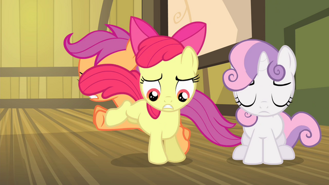 File:Scootaloo and Apple Bloom switching places S4E17.png