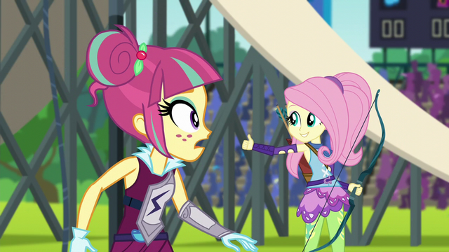 File:Fluttershy giving the thumbs up to AJ EG3.png