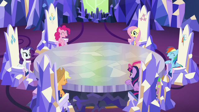 File:Main cast chattering S5E19.png