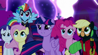 Mane Six supporting Princess Luna S5E13