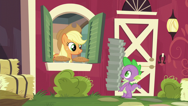 """File:Spike """"another order of pies, please"""" S6E10.png"""