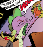 Spike with Comic Elements of Harmony