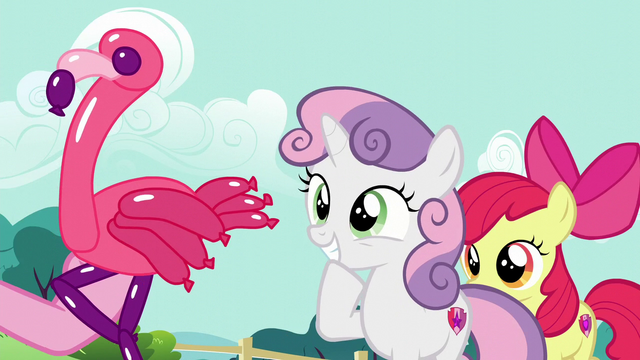 File:Sweetie Belle being presented a balloon flamingo S5E19.png