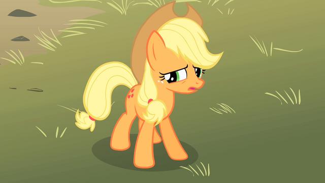 File:Applejack looking concerned 2 S01E18.png