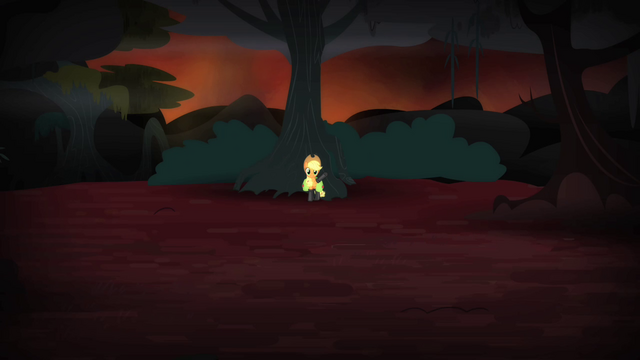 File:Applejack waving at the chimera S4E17.png
