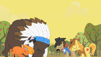 Peace between Appleloosans and buffalo S01E21