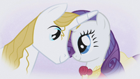 """Rarity and Blueblood """"our eyes would meet"""" S1E03"""