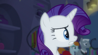 Rarity looking around nervously S6E9