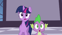 Twilight and Spike gasping S4E01