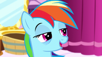 Rainbow Dash looking half-asleep S5E13