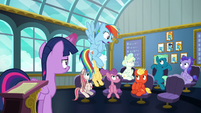 "Rainbow repeats ""class is in session!"" S6E24"