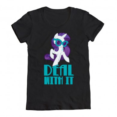 "File:Rarity ""Deal With It"" shirt from WeLoveFine.jpg"