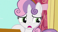 "Sweetie Belle ""anypony know if griffons ever get tired?"" S6E19"