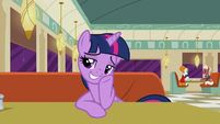 Twilight Sparkle with pride in her work S6E9