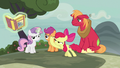 Apple Bloom smacks the fairy tale book away S7E8.png
