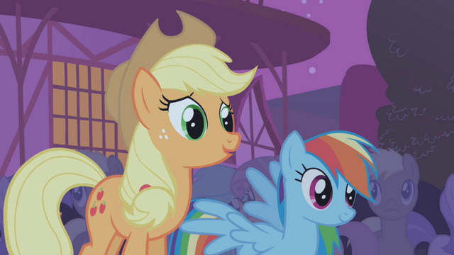 File:Applejack and Rainbow Dash S01E06.png
