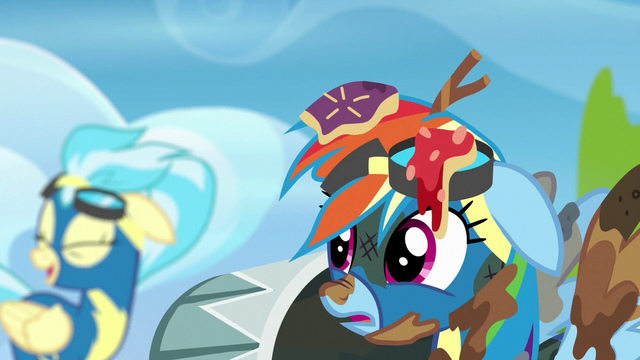 File:Rainbow hears the Wonderbolts laughing S6E7.png