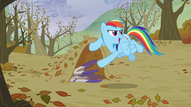 File:Rainbow hides skis under ground floor S5E5.png