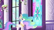 Celestia 'Spike brought Cadance the crystal heart' S3E2