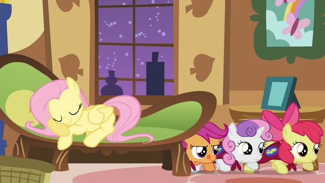 File:Fluttershy falls asleep while foalsitting S1E17.png