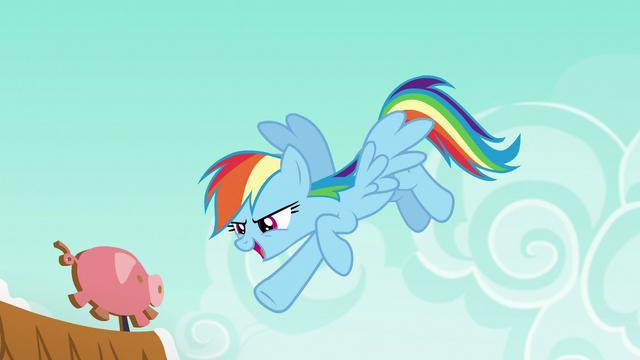 "File:Rainbow says ""gotcha!"" to Applejack S6E15.png"