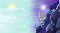 Canterlot between day and night S4E01