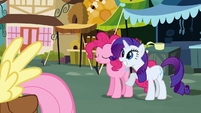 Rarity smiling for Fluttershy S2E19