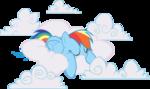 AiP Rainbow Dash sleeping in clouds