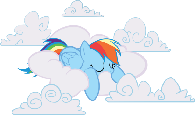 File:AiP Rainbow Dash sleeping in clouds.png