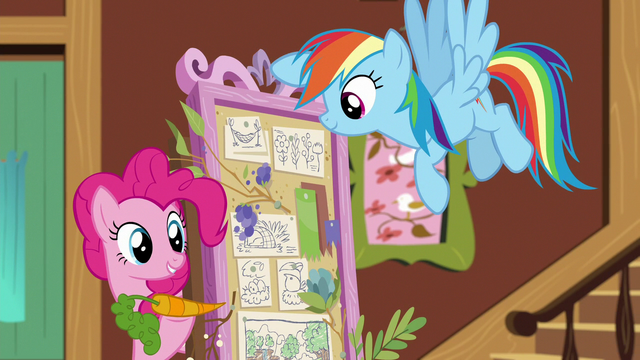 File:Pinkie Pie suggests a carrot cake stand S7E5.png