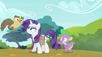 Spike sneaks up on Rarity again S4E23