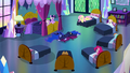 Luna sleeping in the middle of Twilight's room S5E13.png