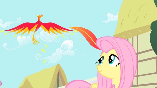 File:Philomena gives Fluttershy a present S01E22.png