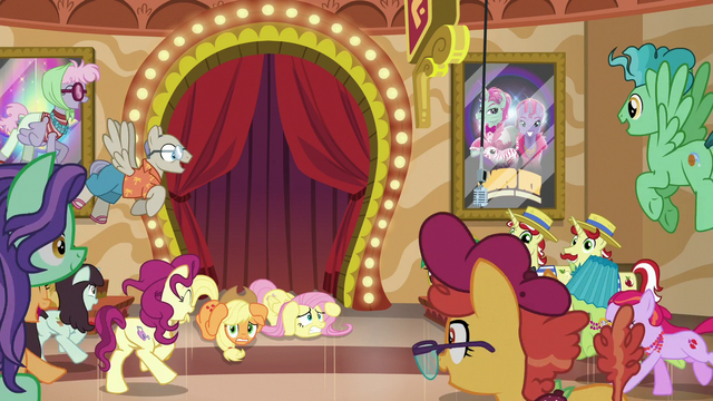 File:Ponies converge on Applejack and Fluttershy S6E20.png